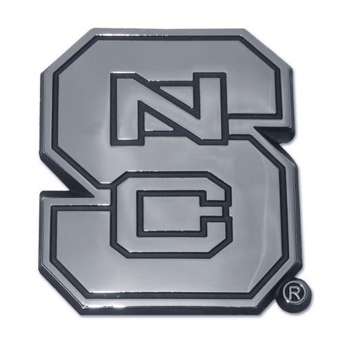 Nc State Chrome Auto Emblem