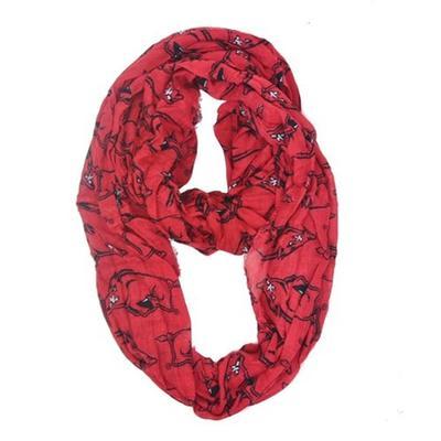 Arkansas Logo Knit Infinity Scarf