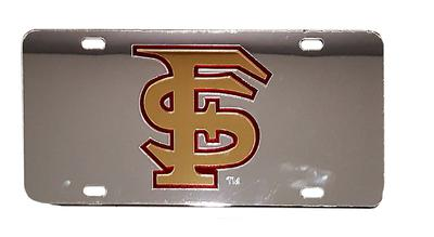 Florida State License Plate Silver With Gold FS