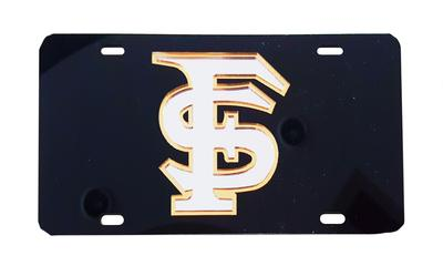 Florida State License Plate Black With Silver FS