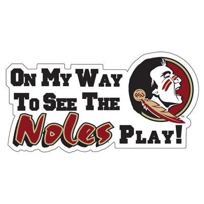 Florida State Magnet On My Way To See The Noles