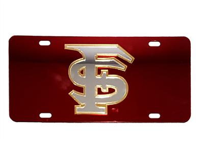 Florida State License Plate Garnet With Silver FS