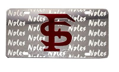 Florida State License Plate Seminoles Symbol Back