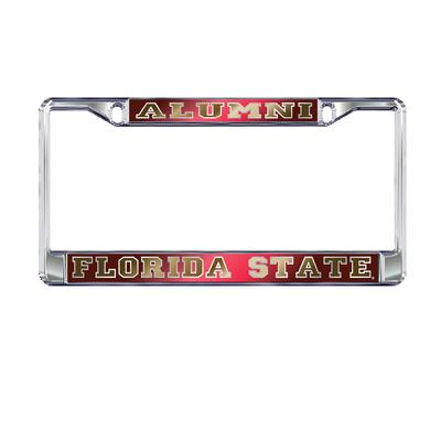 Florida State License Plate Frame Mirrored Alumni