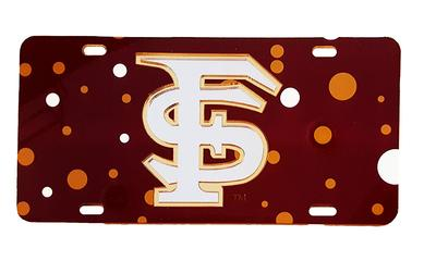 Florida State License Plate Dots