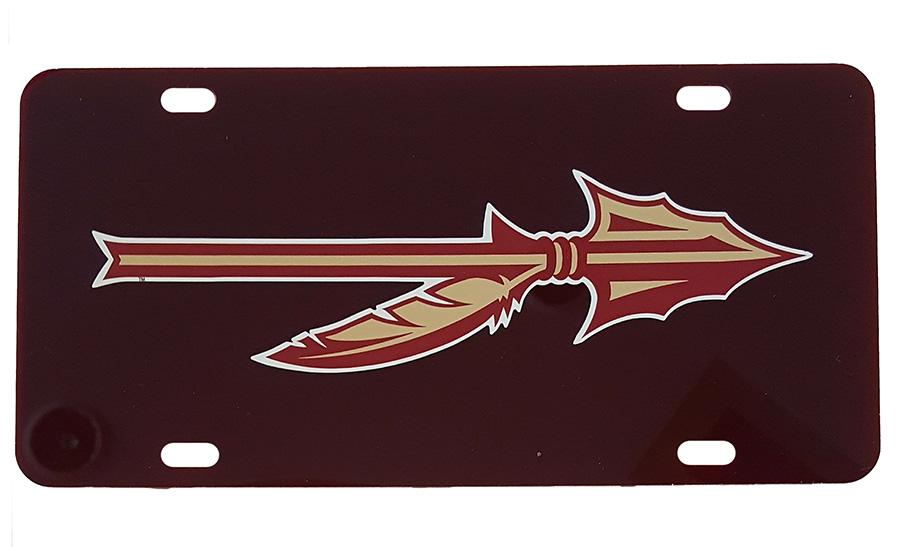 Florida State Spear Logo License Plate