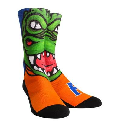 Florida Rock Em Split Face Mascot Crew Socks