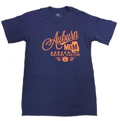 Auburn Mom Script Stack T-shirt