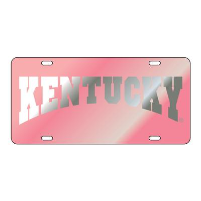 Kentucky License Plate Pink with Silver Kentucky Arch