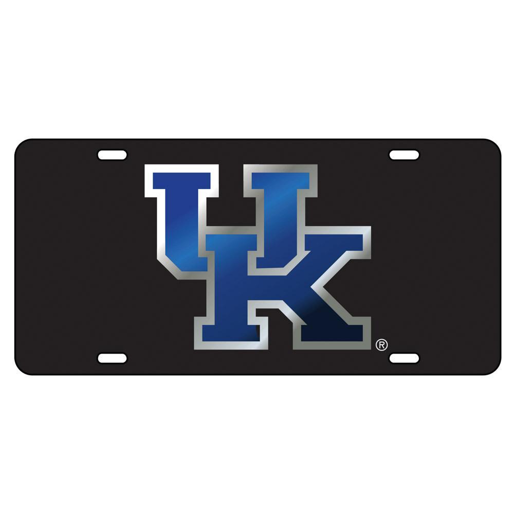 Kentucky License Plate Black/Blue Uk Logo