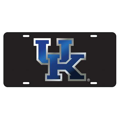 Kentucky License Plate Black/Blue UK Logo