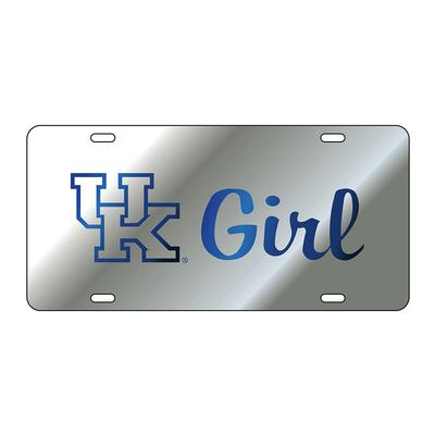 Kentucky License Plate Silver/Blue UK Girl