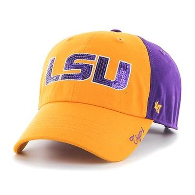 LSU 47 Women's 2 Tone Sparkle Adjustable Hat