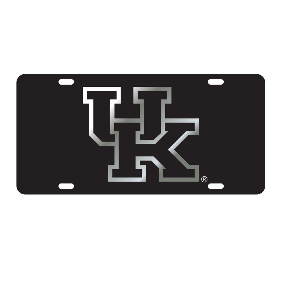 Kentucky License Plate Black/Silver Uk Logo