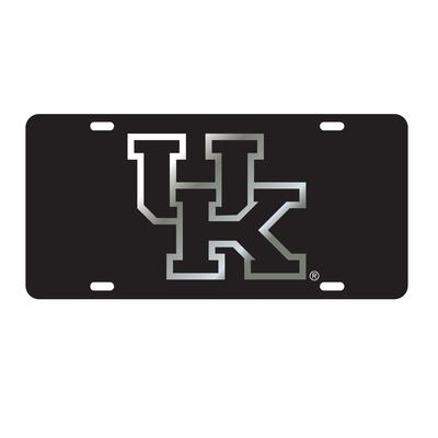 Kentucky License Plate Black/Silver UK Logo