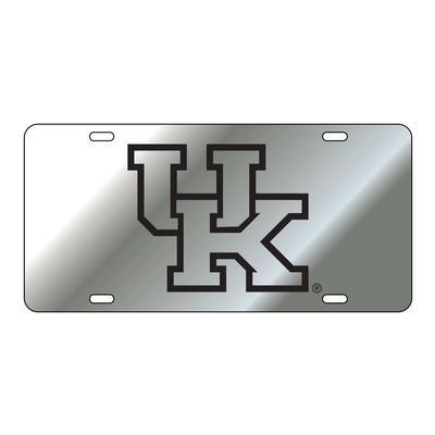 Kentucky License Plate Silver/Black UK Logo