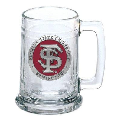 Florida State Heritage Pewter Stein Glass
