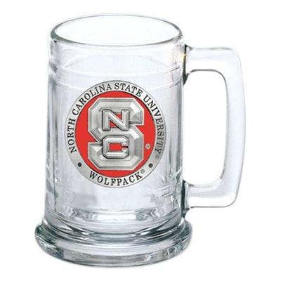 NC State Heritage Pewter NCS Stein Glass