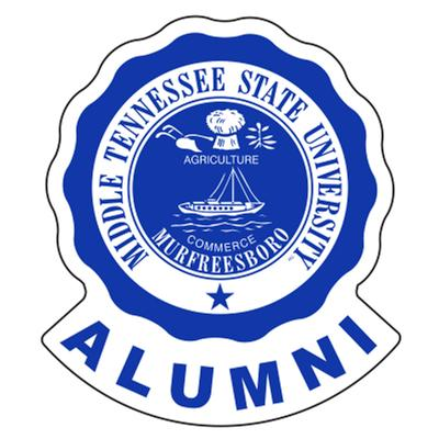 MTSU Decal Alumni Crest 4