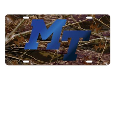 MTSU License Plate Camo with Royal MT