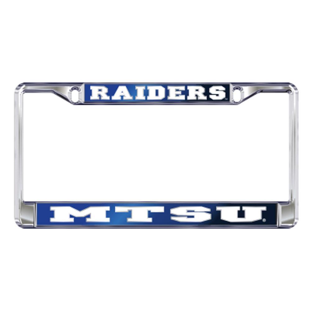 Mtsu License Plate Frame Raiders/Mtsu