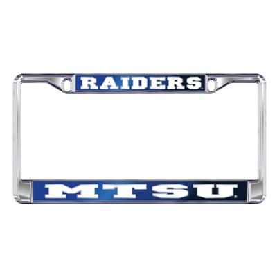 MTSU License Plate Frame Raiders/MTSU