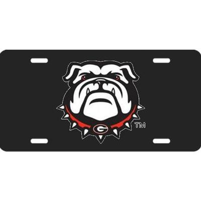 Georgia New Bulldog License Plate with Black Background