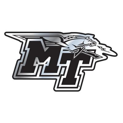 MTSU Car Magnet Chrome MT Logo 3