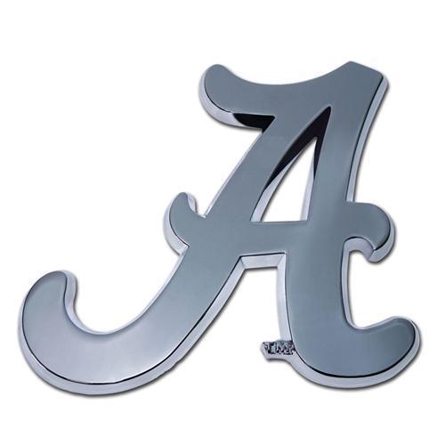 Alabama Script A Chrome Auto Emblem