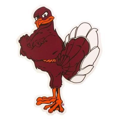 Virginia Tech Magnet Hokie Bird 4