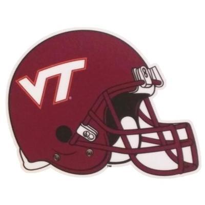 Virginia Tech Magnet Football Helmet 12