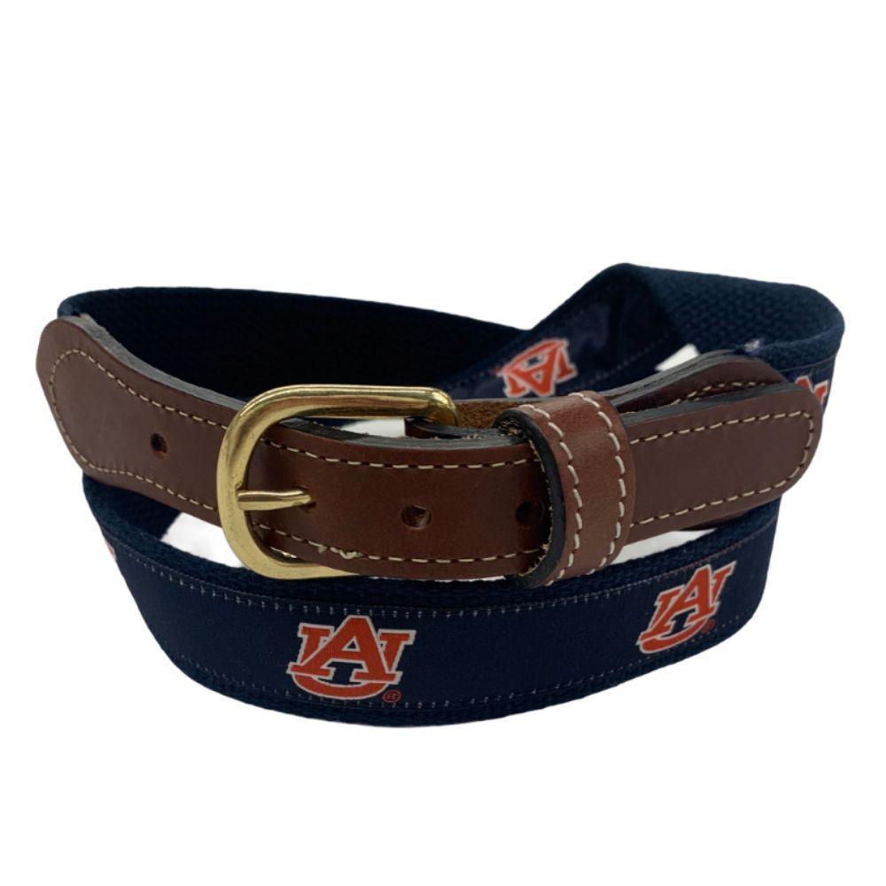 Auburn Belt With Leather Buckle