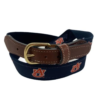 Auburn Web Leather Belt
