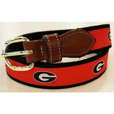 Georgia Web Leather Belt