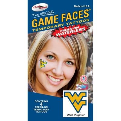 WVU Face Tattoos