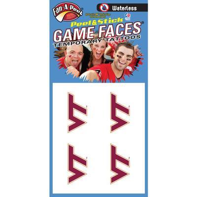Virginia Tech Face Tattoos