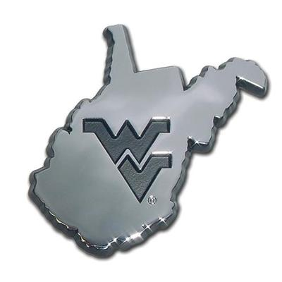 West Virginia State Chrome Auto Emblem