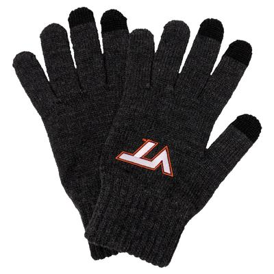 Virginia Tech Heavy Knit Gloves CHARCOAL
