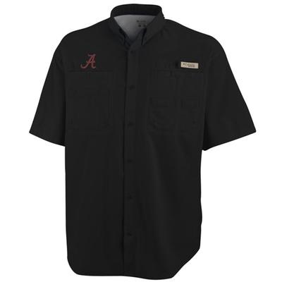 Alabama Columbia Tamiami II Woven Short Sleeve BLACK