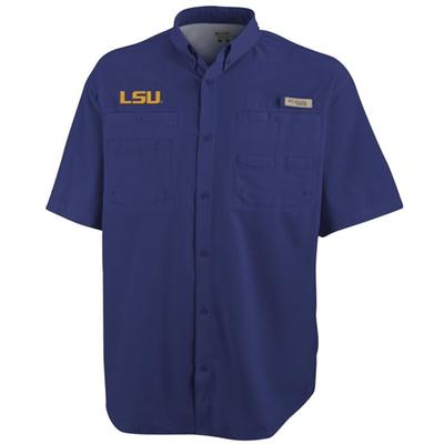 LSU Columbia Tamiami Short-Sleeve