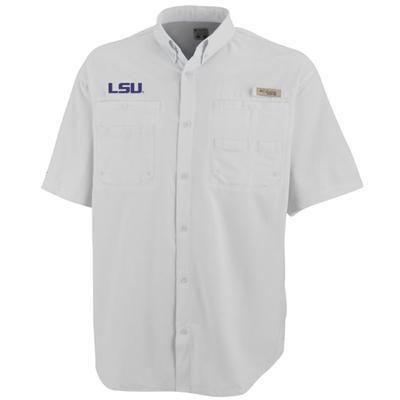LSU Columbia Tamiami Short-Sleeve WHITE
