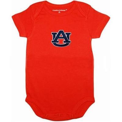Auburn Solid Infant Body Suit ORANGE