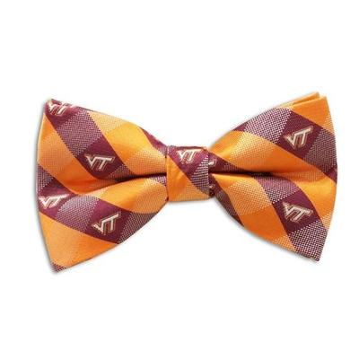 Virginia Tech Check Pattern Bow Tie