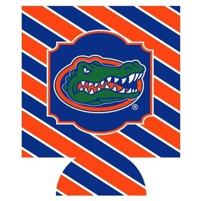 Florida Bias Striped Can Coozie