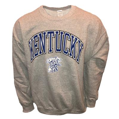 Kentucky Arch Logo Screen Print Crew Fleece