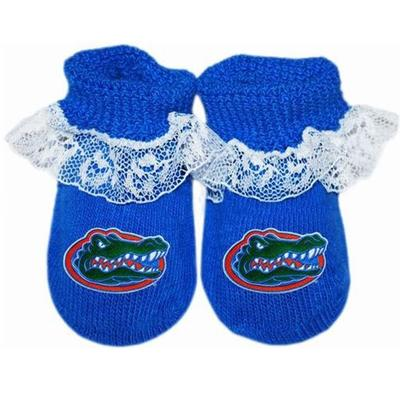 Florida Infant Lace Gift Box Booties