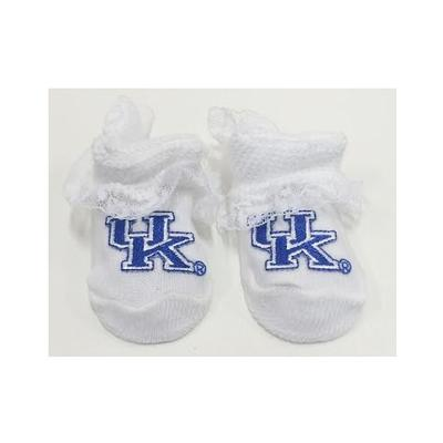 Kentucky Infant Lace Gift Box Booties