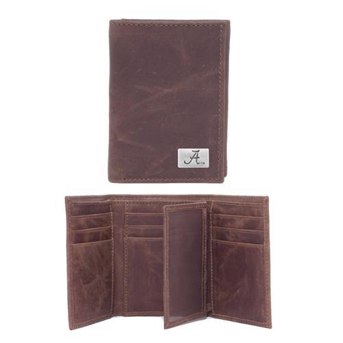 Alabama Leather Tri- Fold Wallet