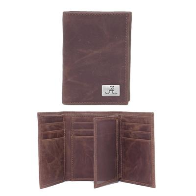 Alabama Leather Tri-fold Wallet