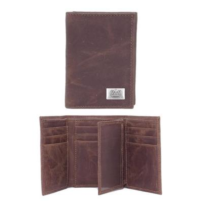 Auburn Leather Trifold Wallet